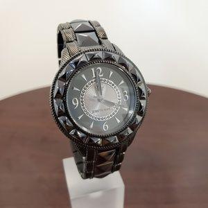 Judith Ripka Black Ceramic-SS Watch
